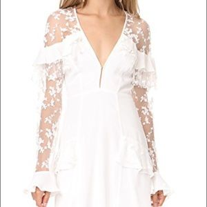 For Love & Lemons Rosebud Dress in ivory, S